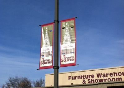Brown Squirrel Pole Banners