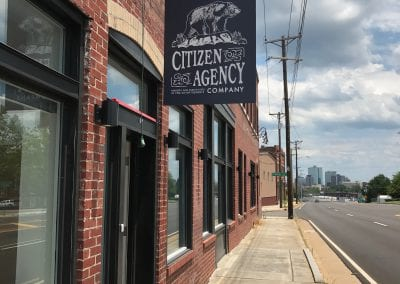 Citizen Agency office sign