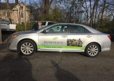 Dominion Camry Vehicle Wrap 2