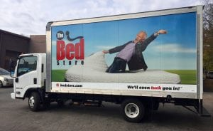 The Bed Store Vehicle Wrap 2