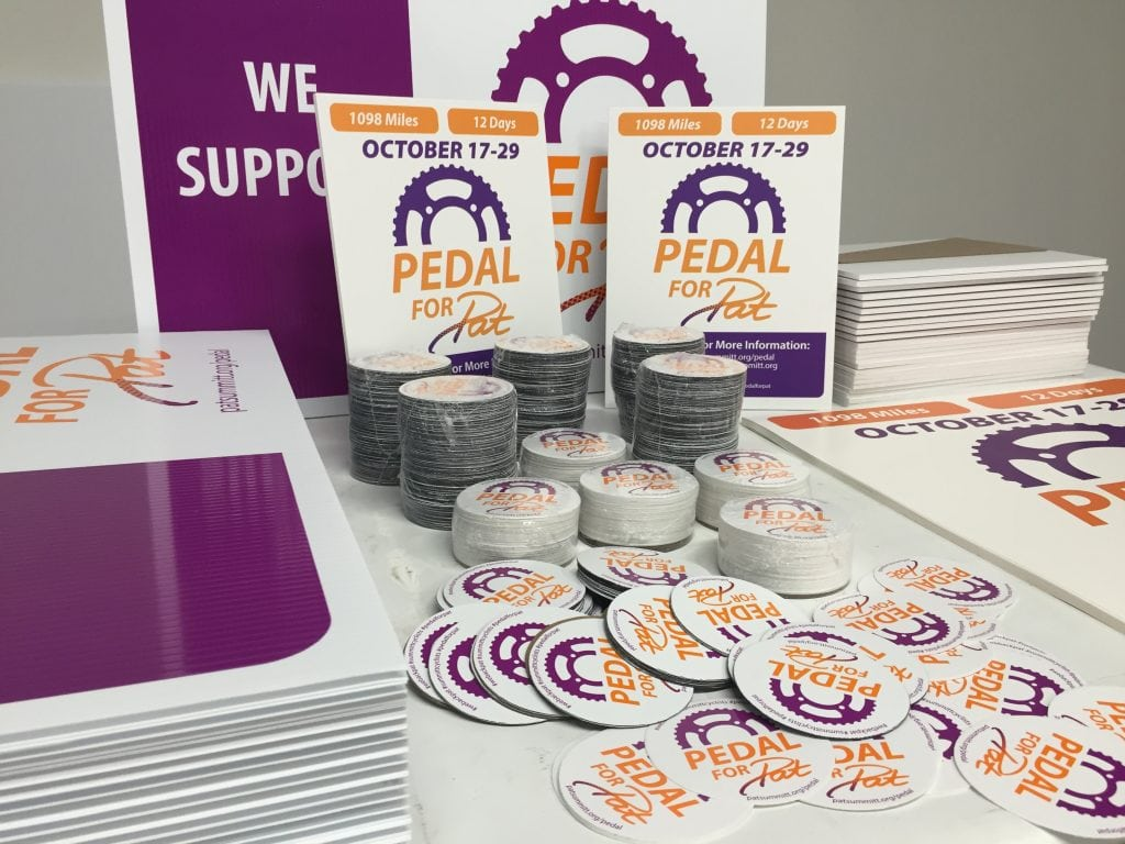 Printed Memorabilia for the Pedal for Pat event