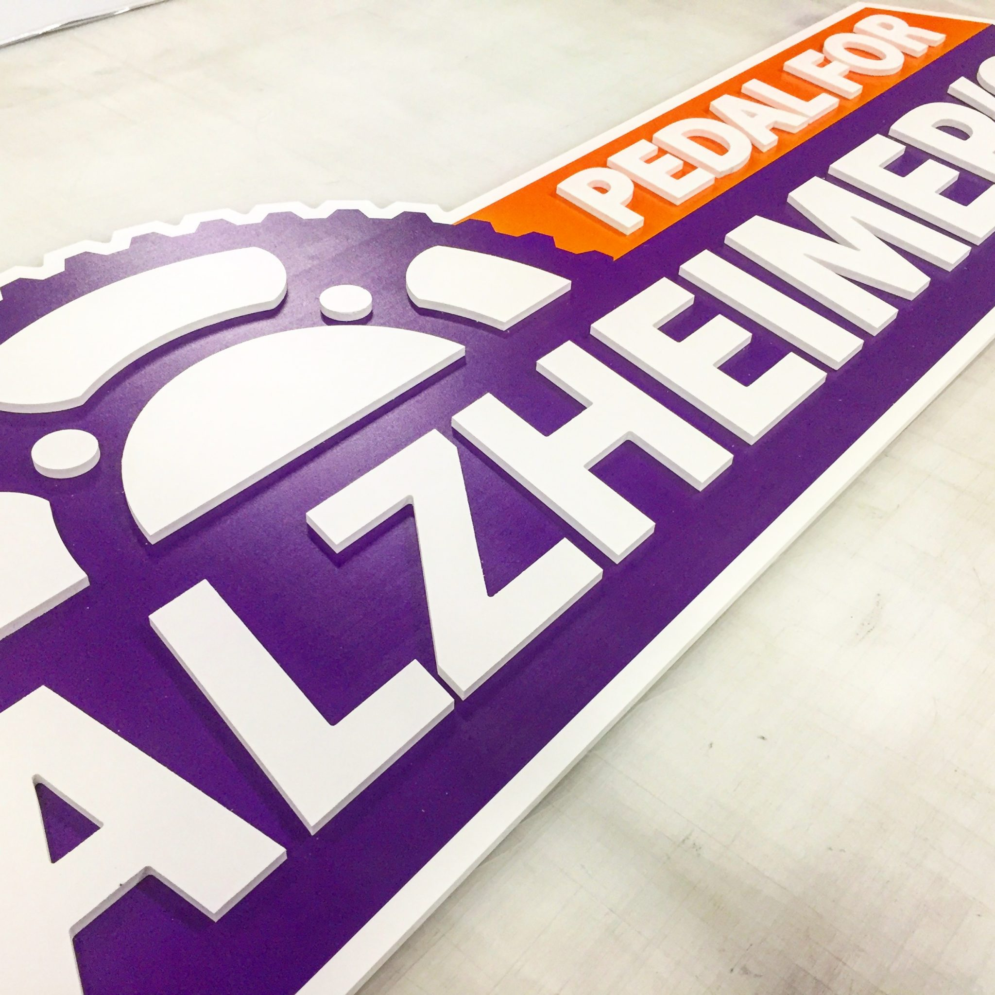 Sign for Pedal for Alzheimers