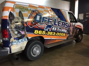 K9 vehicle wrapping parrott printing
