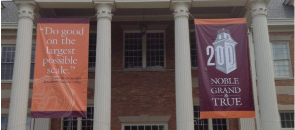 Bicentennial banners and signs for Maryville College