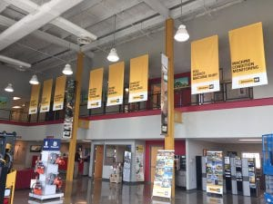 Stowers Lobby Banners