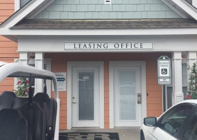 commons leasing office sign