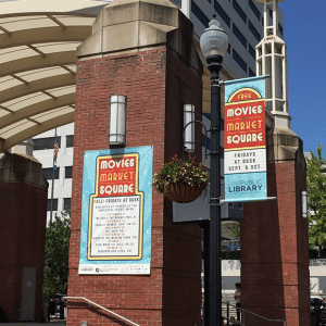 Movies on Market Square banners